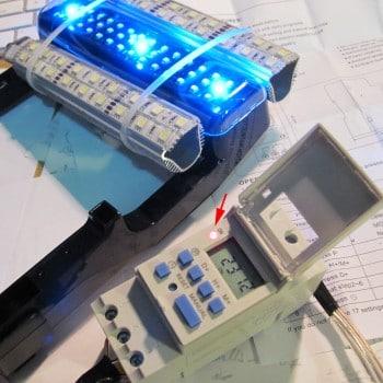 Fluva Edge Lighting system with LED upgrade and timer - night mode